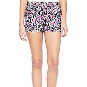 Juicy Couture Pink Floral High Rise Shorts